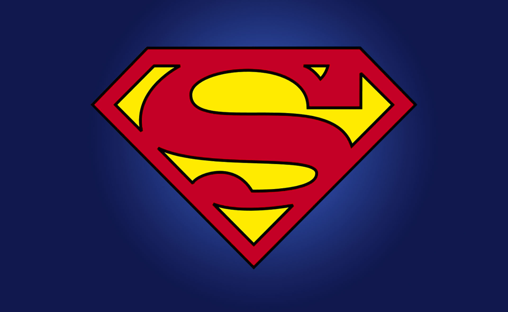 Superman S Logo, Christopher Reeve Movie Era, 1970s and 80s