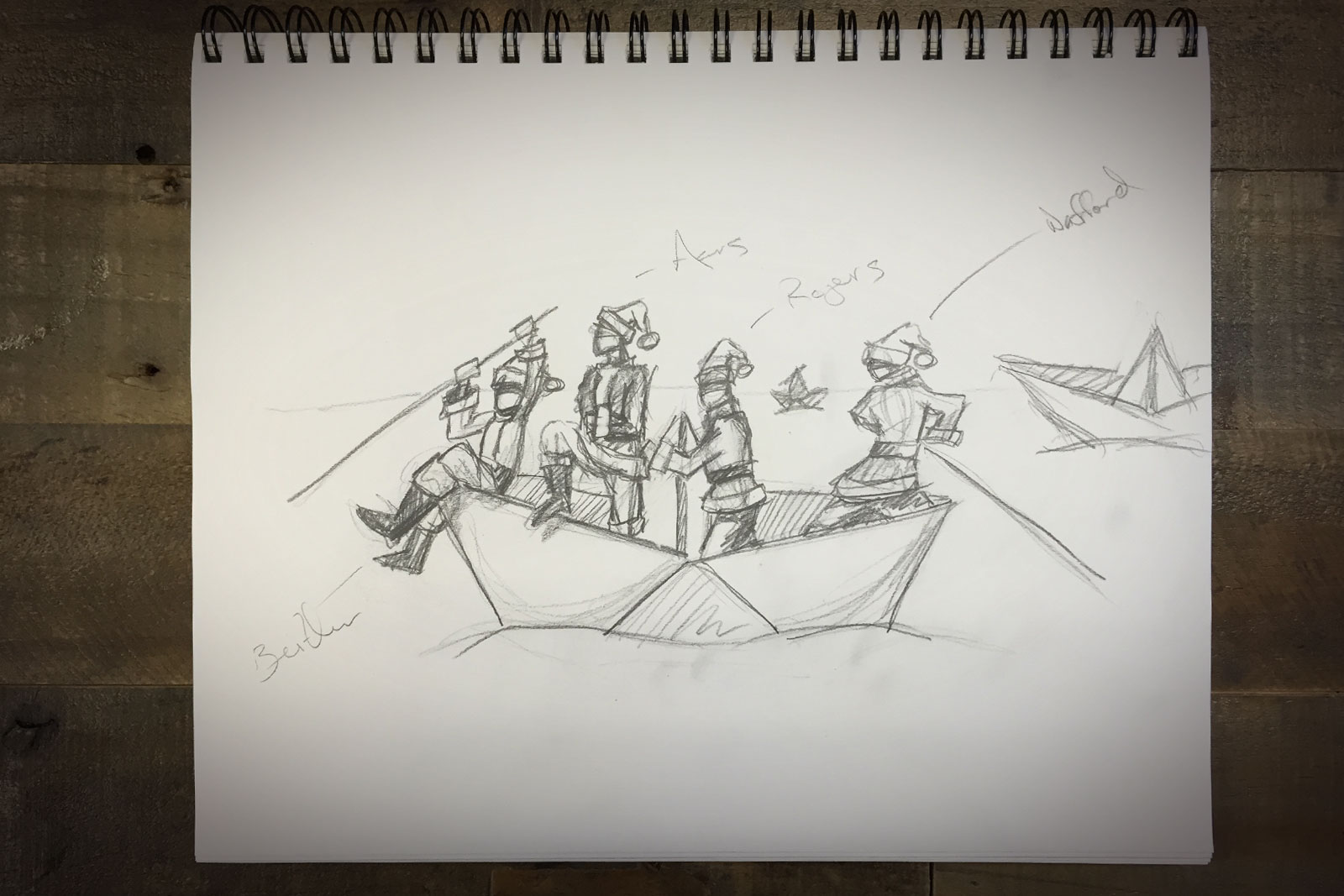 Tidal Wave Christmas Card 2014 Concept Sketch