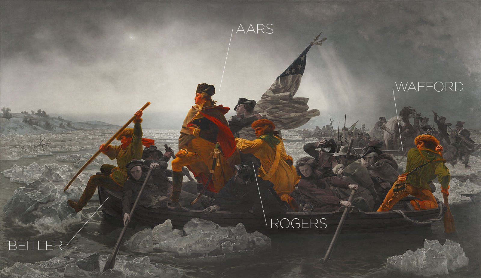 Washington Crossing The Delaware with Tidal Wave's Team