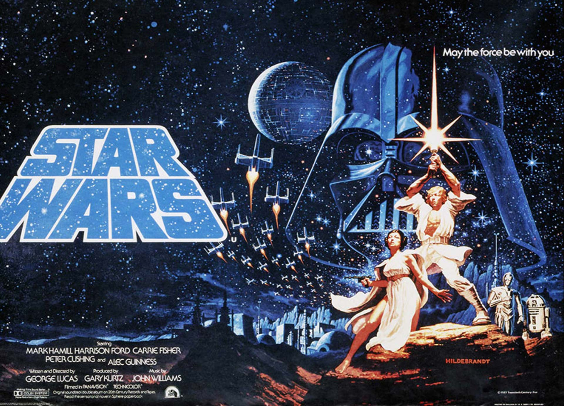 Horizontal Star Wars Classic Posters Episode IV: A New Hope Style A by the Brothers Hildebrandt